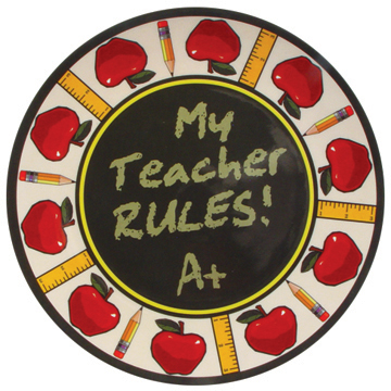 My Teacher Rules Treat Plate