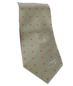 Mens CTR Red with Blue Diamonds Tie