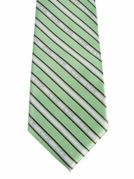 Kids CTR Green and Brown Striped Tie