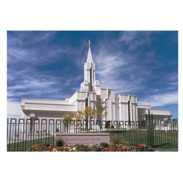 Bountiful Utah Day Temple Photo - 5x7